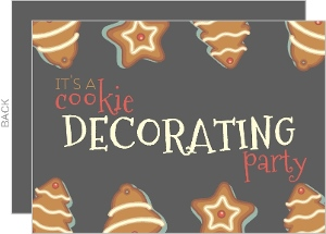 Cookie Decorating Holiday Party Invitation