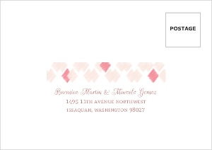 Pink Ikat Pattern Wedding Response Envelope