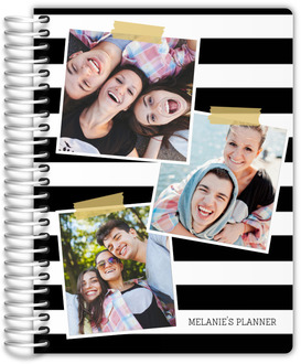 Photo Snapshot Stripes Student Planner