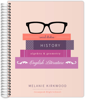 Glasses & Books Student Planner