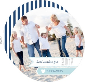 Blue Modern Banner New Years Photo Card