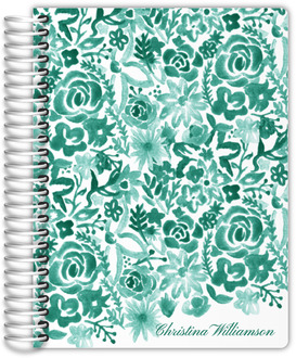 Cascading Handpainted Floral Student Planner