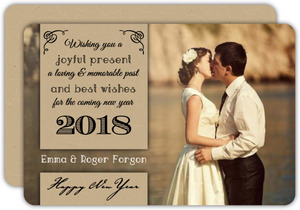 Script and Kraft Couples New Years Card