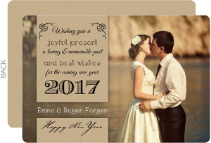Script and Kraf Couples New Years Card