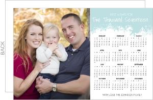 Charming Snowflake Calendar New Years Card