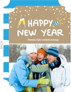 Funfetti Happy New Year Photo Card