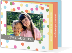 Bright and Colorful New Years Photo Card