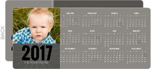 Gray Block Calendar New Year Card