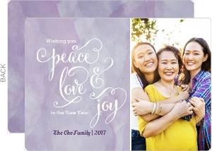 Purple Watercolor New Years Card