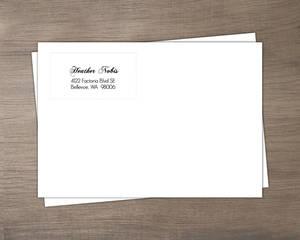 Orange And Black Elegant Halloween Wedding Envelope