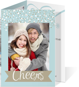 Blue Sparkly Happy New Years Card