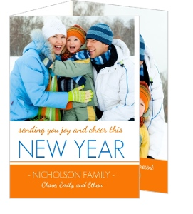 Joy and Cheer in the New Year Trifold Card