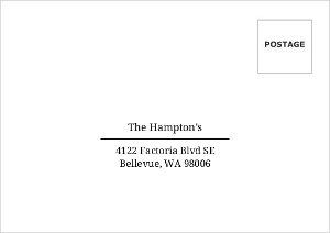 Simple Black And White Mailing Address Only Envelope