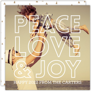 Peace and Joy New Year s Greeting Card