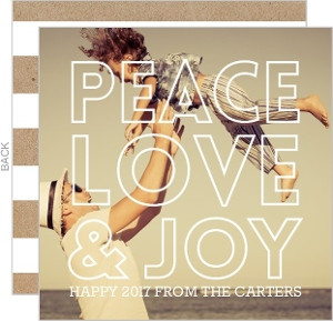 Peace and Joy New Year's Greeting Card