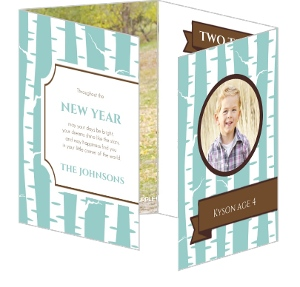 Birch Tree Calendar New Year Card