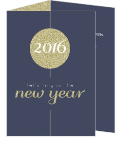 Gold Glitter Ball Dropping New Years Invitation