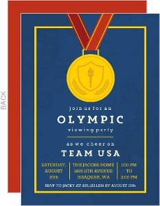 Gold Medal Party Invitation
