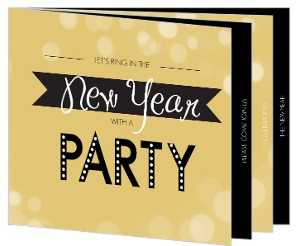 Golden Lights New Years Party Invitation