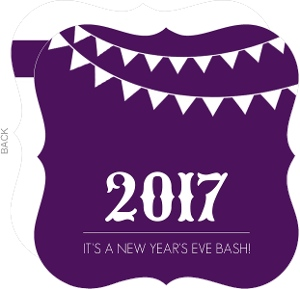 Bold Purple New Years Party Invitation