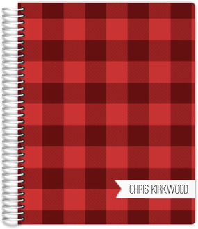 Red Plaid Student Planner