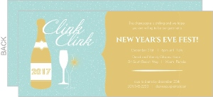 Golden New Years Party Invite