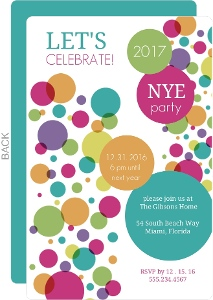 Big Confetti New Years Party Invite