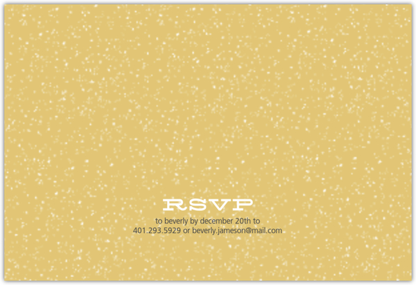 Gray and Gold Block Numbers New Years Invitation