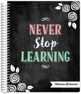 Chalkboard Never Stop Learning Student Planner