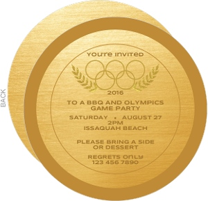 Olympic Medal Party Invitation