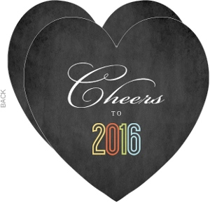 Chalkboard Heart New Years Invitation