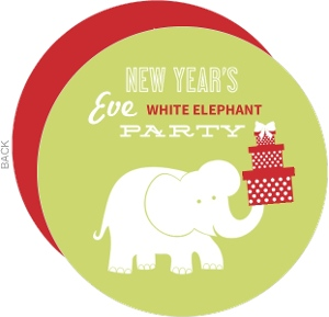 New Year S White Elephant Gift Exchange Party Invitation