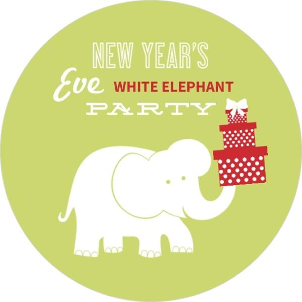 White Elephant Gift Exchange Logo New Year S White Eleph...