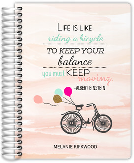 Watercolor Bicycle Student Planner