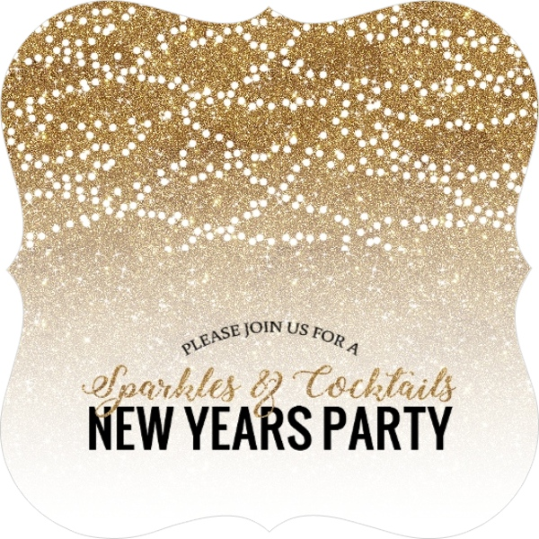 Yellow Formal New Years Party Invitation