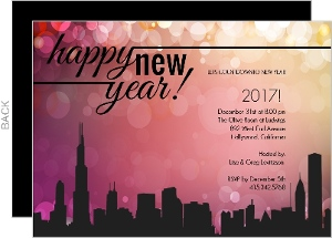 Festive New Years Party Invitation