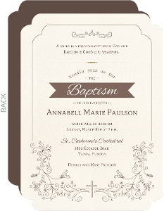 Formal And Elegant Baptism Invitation