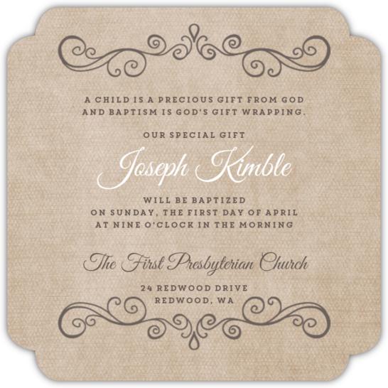 vintage frame decoration baptism invitation  baptism invitations, Baptism invites