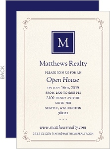 Monogram Business Open House Invitation