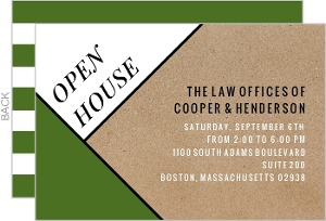 Modern Kraft Business Open House Invitation