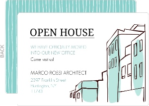 Seafoam Green Business Open House Invitation