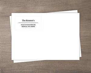 Black And White Address Label Envelope - 638