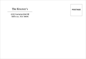 Black And White Address Label Envelope - 638