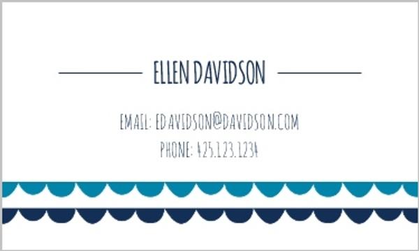Scalloped Cutout Business Card