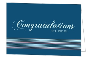 Turquoise Colorful Lines Congratulations Card