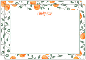 Watercolor Peach Notecard