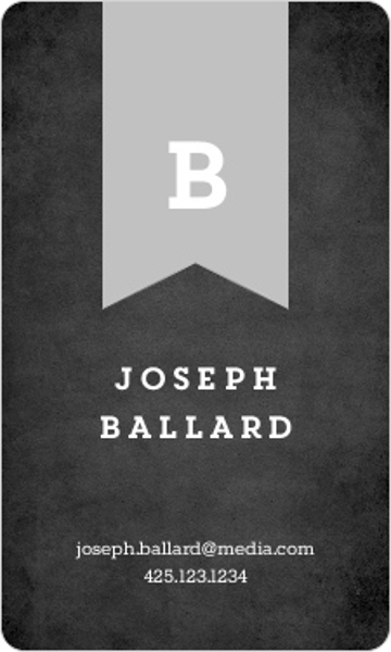Monogram Banner Business Card