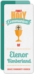Colorful Modern Typographic Communion Invitation