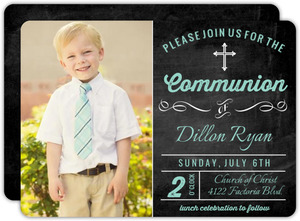 Modern Chalkboard Communion Invitation