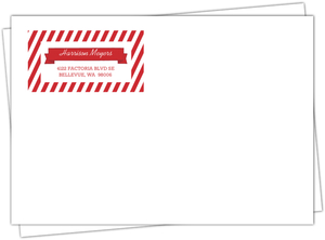 Red Photo And Bats Address Label Envelope